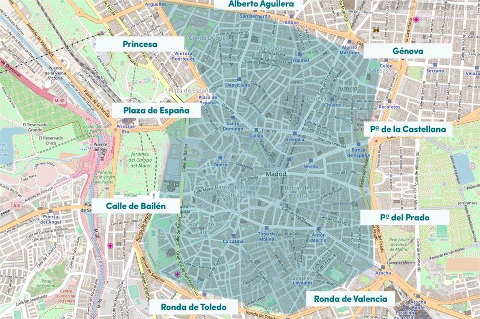 Zona Azul Sevilla Mapa.Madrid Central Area Prioridad Residencial A P R El Blog